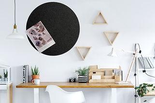 Pinpals Charcoal Circle Pinboard