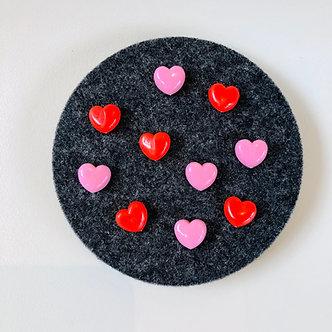 Heart Push Pins (10 pk)