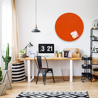 60cm Orange Contemporary Circle Pinboard