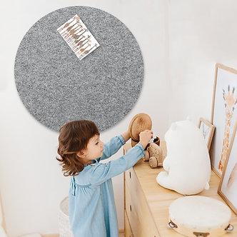 60cm Grey Contemporary Circle Pinboard