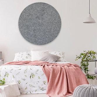 105cm Grey Contemporary Circle Pinboard