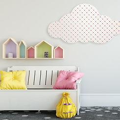Pinpals Cloud Pinboard in beautiful kid room