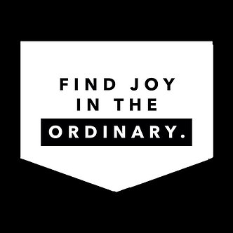 Banner - 'Find Joy in the Ordinary'