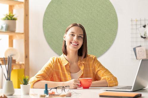 Limited Edition - 80cm Avocado Contemporary Circle Pinboard