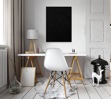 80 x 60cm Black Contemporary Rectangle Pinboard