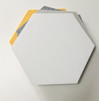 White Hexagon Pinboard