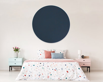 110cm Navy Contemporary Circle Pinboard
