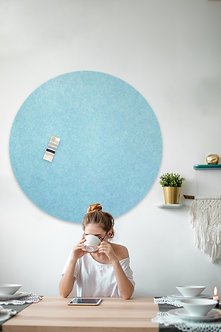 110cm Aqua Contemporary Circle Pinboard