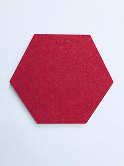 Contemporary Red Hexagon Pinboard