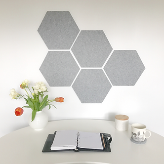 Grey Hexagon Pinboard