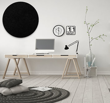 60cm Black Contemporary Circle Pinboard