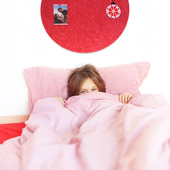 60cm Red Contemporary Circle Pinboard