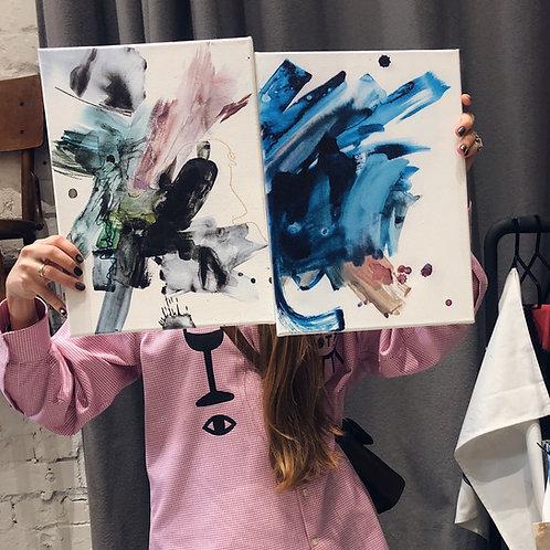 Abstrakts akvarelis - reprodukcija