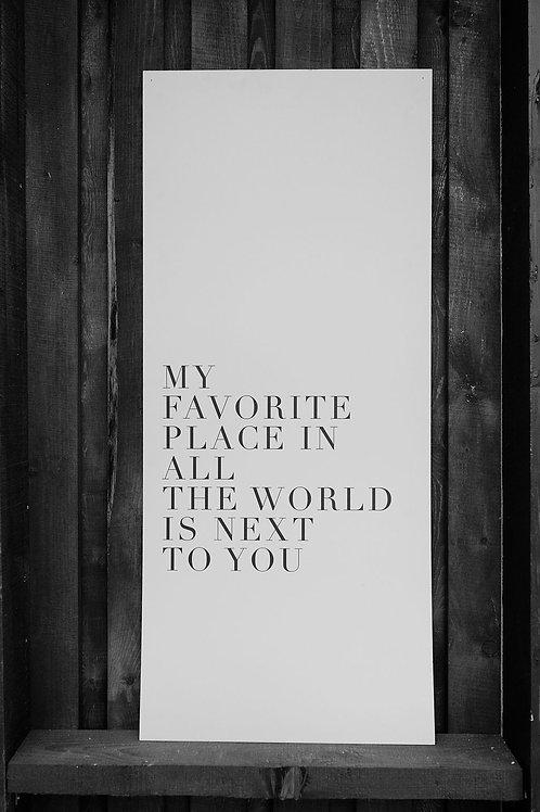 Lielformāta plakāts ar citātu