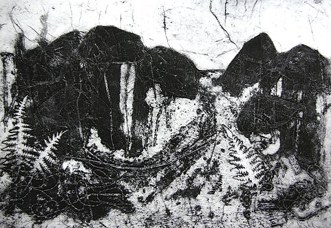 Uplands - Collagraph