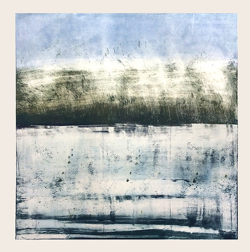 Early Morning on Lough Erne - Monotype