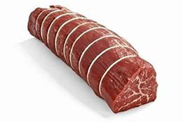 CHOICE Natural Beef Tenderloin Roast Cleaned and Tied 2 lb.