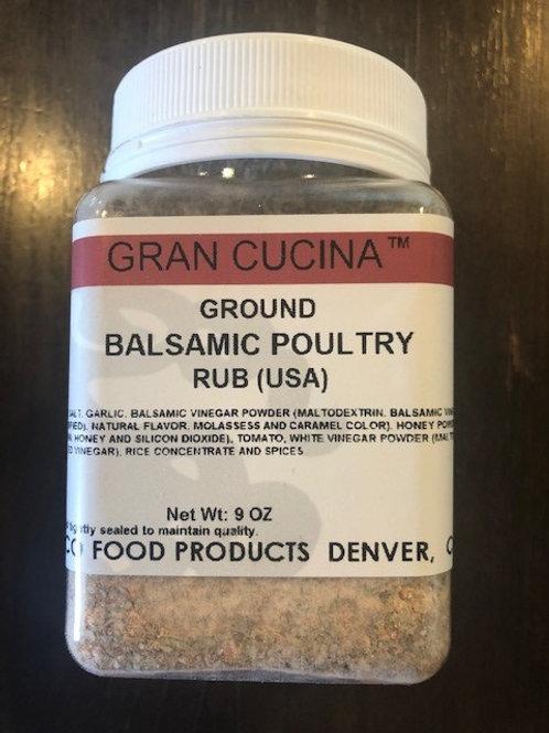 "Balsamic Poultry Rub 9oz Jar ""Good on Everything!"" $9.99 Each"