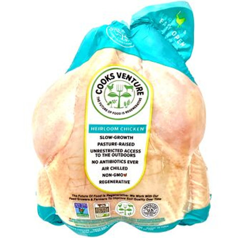 Cooks Venture Whole Chickens Giblets Removed FROZEN $13.50 each
