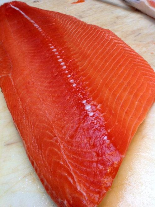 Organic Ocean Wild North Pacific Sockeye Salmon Frozen Boneless Filet Skin-On