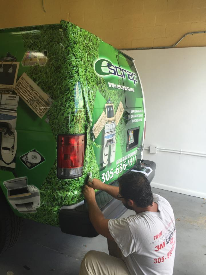 Semi 3M Wrap being installed