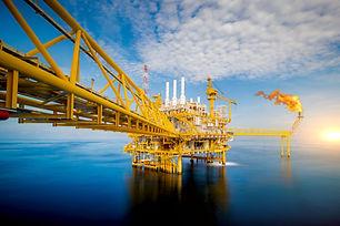 Large Offshore oil rig drilling platform
