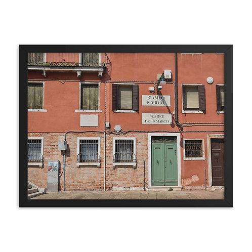 Framed poster: Venice 002