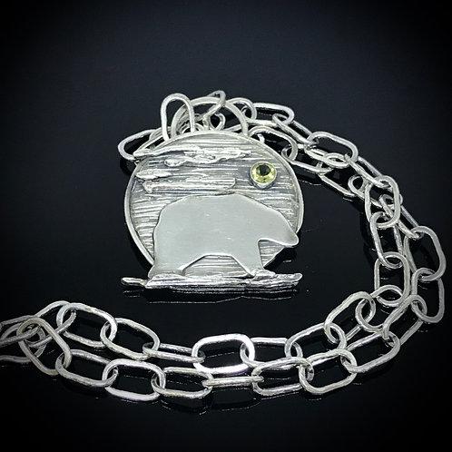 Totem Series - Bear Pendant with Lemon Quartz Gemstone