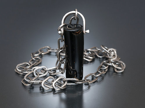 Black Coral Pendant & Chain