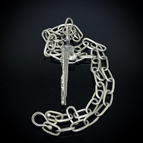 Savanah Sunstone Broomcast Pendant & Chain