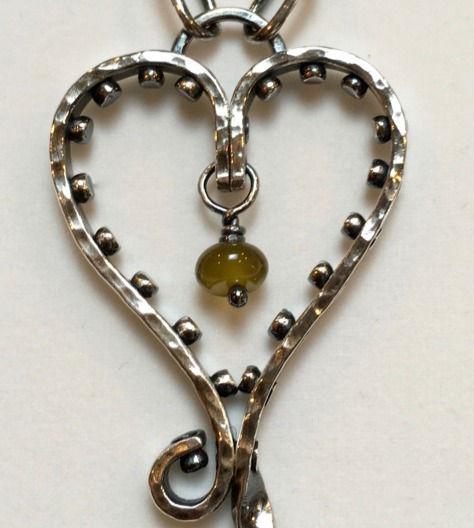 Riveted Heart Pendant - Intermediate