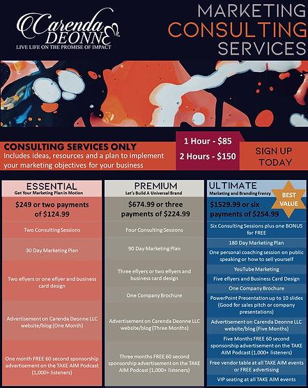 Carenda Deonne LLC - Marketing Packages.