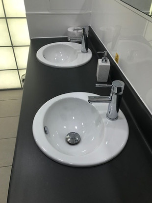 Newly Installed Sink Basins