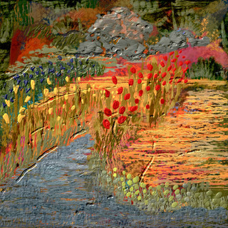 Creek and Flowers