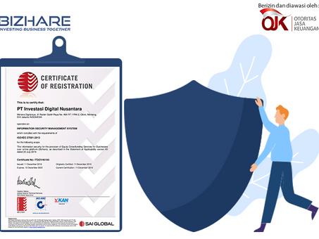 Semakin aman bersama Bizhare, Kini sudah mendapatkan sertifikasi ISO 27001