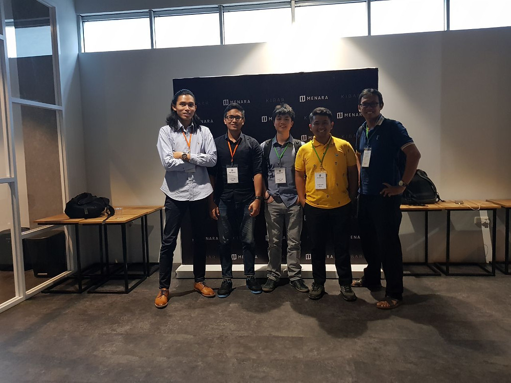 Tim Bizhare saat di Menara by Kibar, Gerakan 1000 startup digital