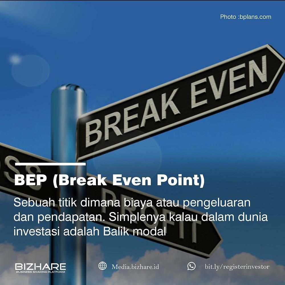 Break Even Operation(BEO) dan Break Even Point (BEP) adalah