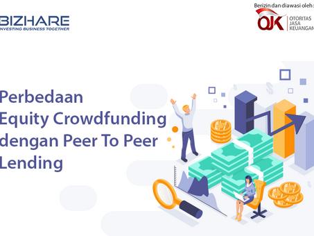 Perbedaan Equity Crowdfunding dengan Peer To Peer Lending