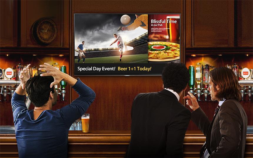 Pantalla tv Bar