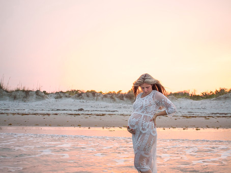Cocoa Beach, Florida Mother Daughter Maternity Session