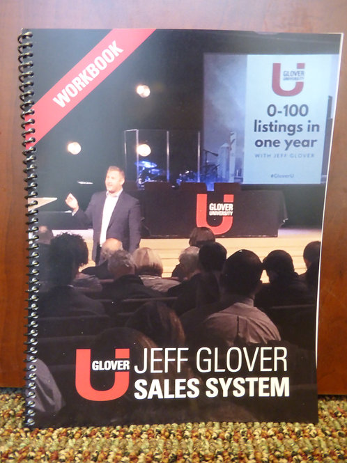 Jeff Glover Sales System Workbook (FOR PURCHASE WITH DVD SET ONLY)