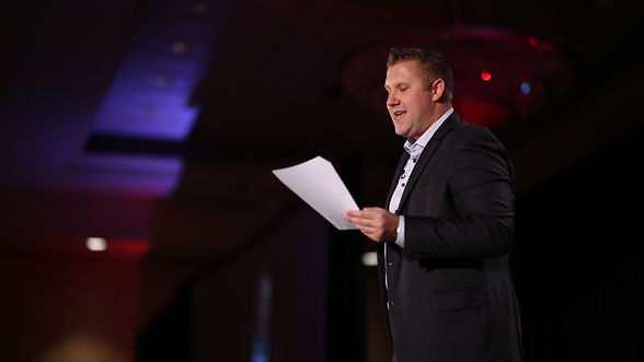 Jeff Glover giving Speech