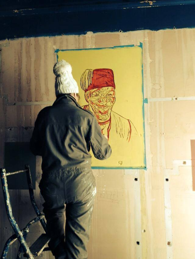First layer of the FEZ mural