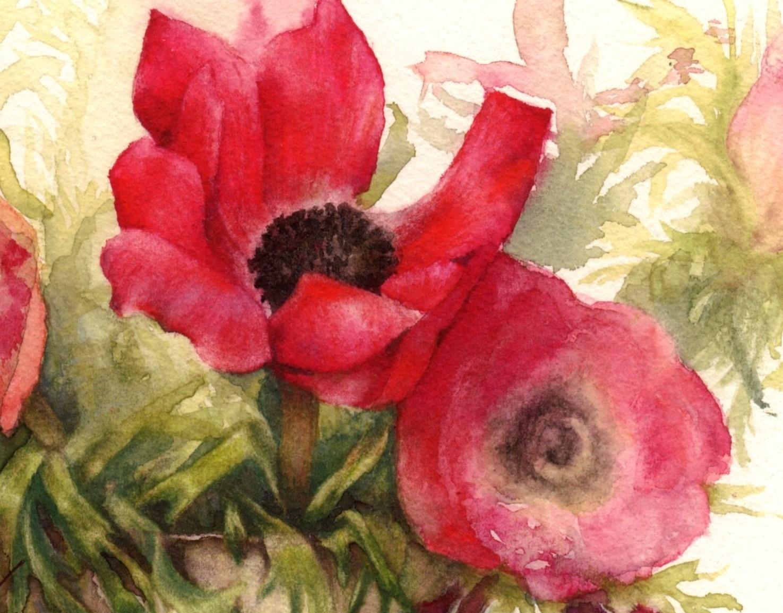 detail of windflowers for lovelys