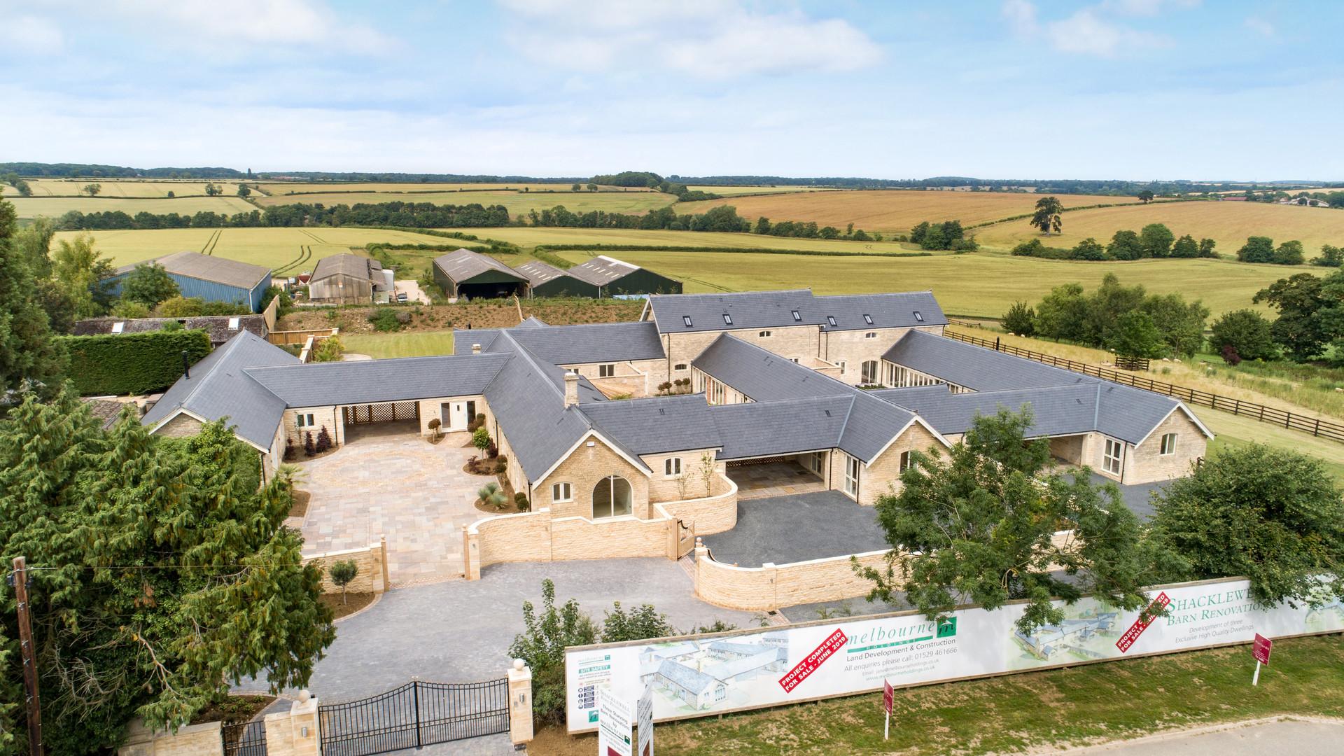 Shacklewell Lodge Barns - Aerial - 6.jpg
