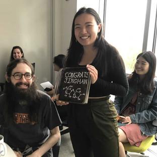 Congrats Jinghan!