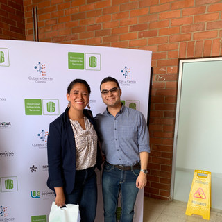 Clubes de Sciencias with German, our Colombian collaborator!