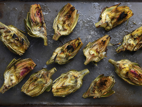 Grilled Artichokes with Lemon & Herbs