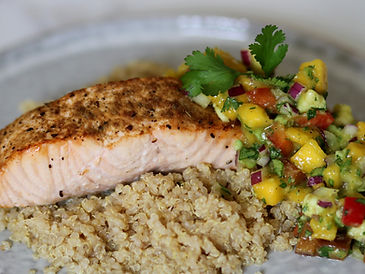 Salmon-Quinoa-Mango-Bowl