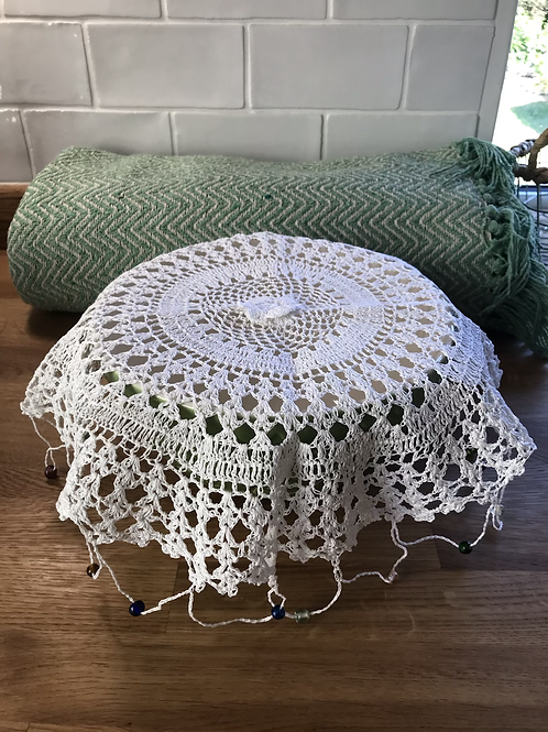 Beaded Lace Bowl Cover